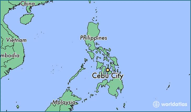 Cebu in the Philippines Map