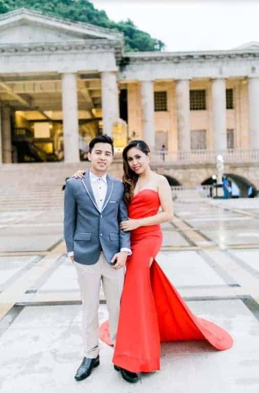 A Wedding photo of Glaiza Bernaldez at the temple